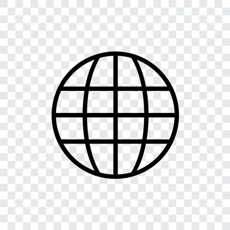 illustrated globe: An Illustrated Icon Isolated on a Background - Globe Stock Photo