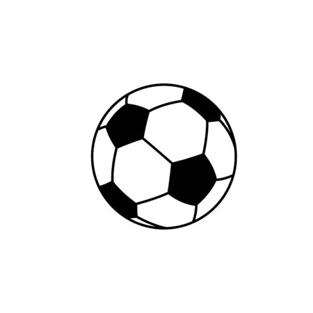An Illustrated Icon Isolated on a Background - Soccer Ball Stock Photo