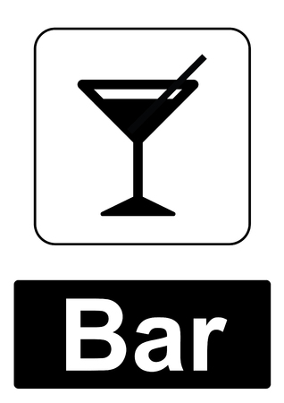 bar magnet: Public Information Sign isolated on a white background -  Bar Stock Photo