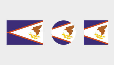 Flag Illustrations of the country  of American Samoa Illustration