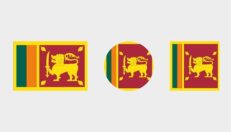 Flag Illustrations of the country  of Sri Lanka