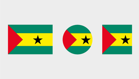 Flag Illustrations of the country  of Sao Tome E Principe