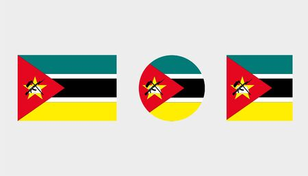 Flag Illustrations of the country  of Mozambique