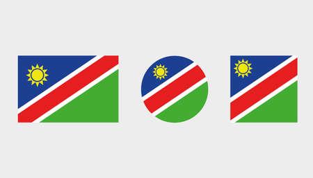 Vlag illustraties van het land van Namibië Vector Illustratie