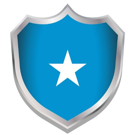 A Shield Illustration with the flag for the country of Somalia