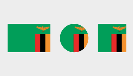 Flag Illustrations of the country  of Zambia