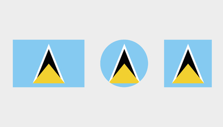 Flag Illustrations of the country  of Saint Lucia