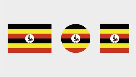 Flag Illustrations of the country  of Uganda