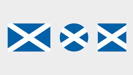 Flag Illustrations of the country  of Scotland