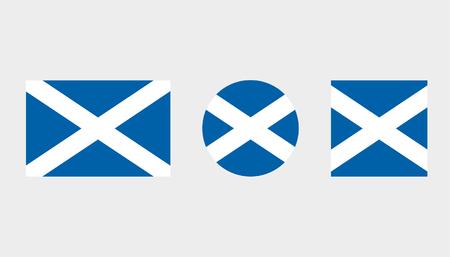 Ilustraciones de banderas del país de Escocia Foto de archivo - 82487087