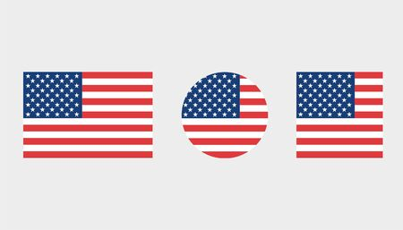 Flag Illustrations of the country  of United States of America