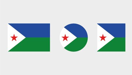 Flag Illustrations of the country  of Djibouti