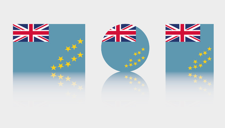 Three Flag Illustrations of the country of Tuvalu Illustration