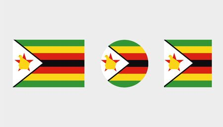 Flag Illustrations of the country  of Zimbabwe Illustration