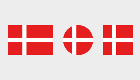 Flag Illustrations of the country  of Denmark