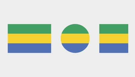 Flag Illustrations of the country  of Gabon