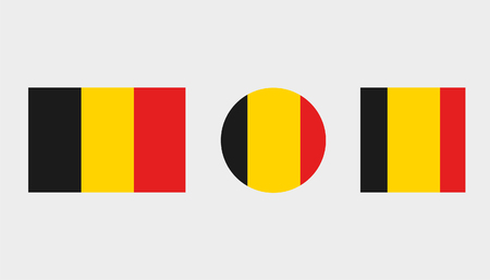 Flag Illustrations of the country  of Belgium