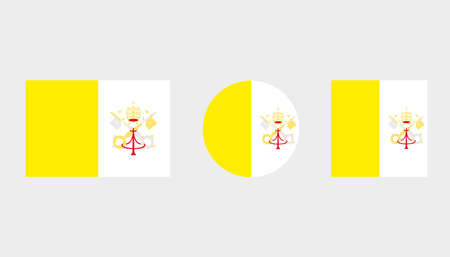 Flag Illustrations of the country  of Vatican Illustration