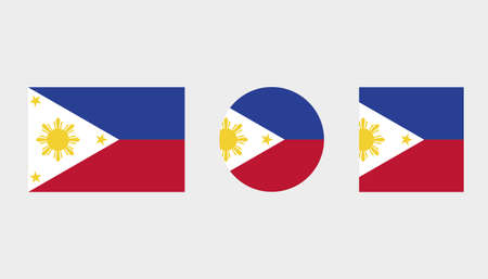 Flag Illustrations of the country  of Philippines