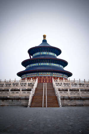 Shot of the main temple at the Temple of Heaven complex, Beijing, China photo
