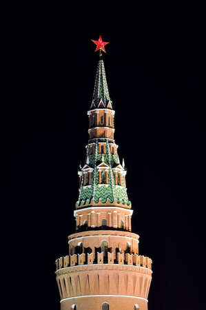 Night shot of the Kremlin Tower, Moscow