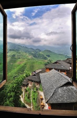 Idyllic view through an open window of the Dragon