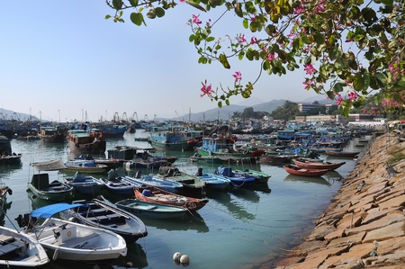 Cheung Chau harbour, Hong Kong Editorial