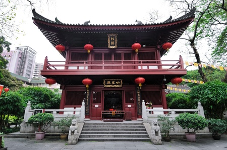 Ancient temple building at the Guangxiao Temple complex, Guangzhou
