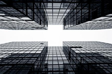ガラスの高層ビルの背景、Hong Kong 写真素材