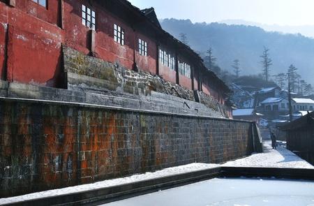 象入浴プール修道院、中国四川省峨嵋山 写真素材