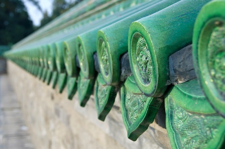 Green ceramic roof tiles, Temple of Heaven, Beijing photo