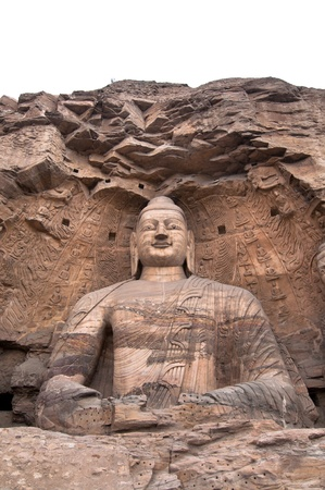 Giant stone Buddha, Yuangang Caves, Datong Stock Photo - 13897259
