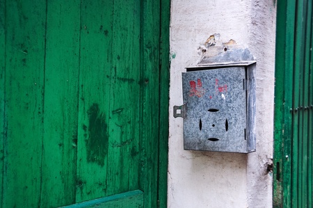 backstreet: Traditional Chinese mailbox in a residential backstreet, Guangzhou, China