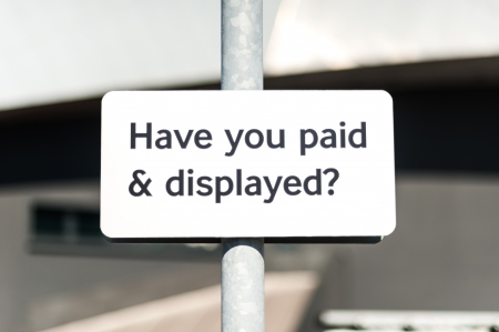 carpark: Pay and display carpark sign