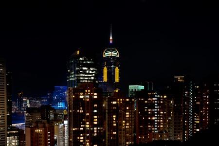 Central Plaza Hong Kong Skyscraper at night