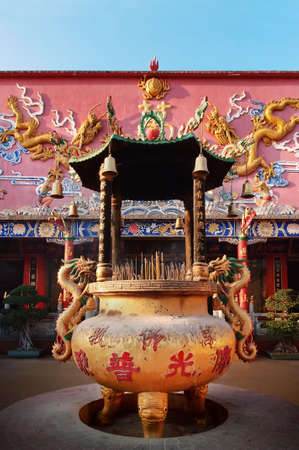 Incense burner at the Ten Thousand Buddhas Temple, Hong Kong photo