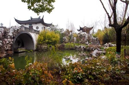 Kezhi ガーデン、朱家角、上海、中国 写真素材