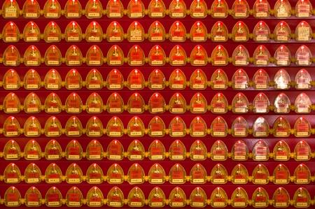 Memorial shrines at Che Kung Temple, Hong Kong Stock Photo