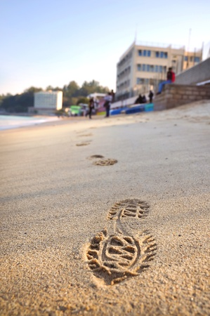 footstep: Footstep on Beach, Cheung Chau