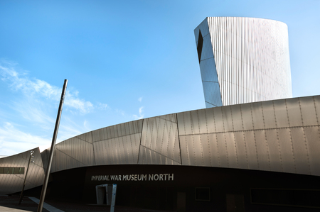 Imperial War Museum North, Salford Quays, Greater Manchester, UK
