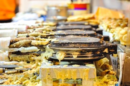 waffles: Huevo waffle puesto, Hong Kong comida de la calle