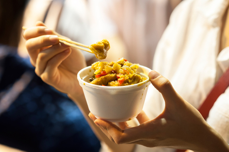 hong kong street: Organs in a pot - strange Hong Kong street food