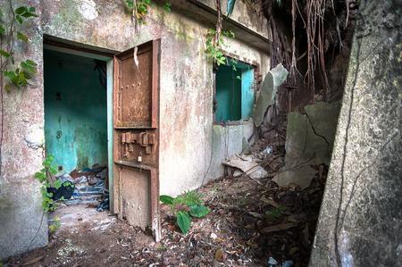 over grown: Abandoned World War II building, Hong Kong
