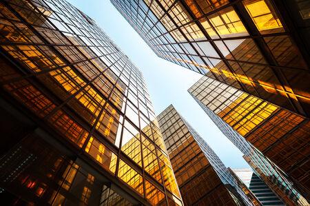 high rise building: Reflective office building exterior, Hong Kong