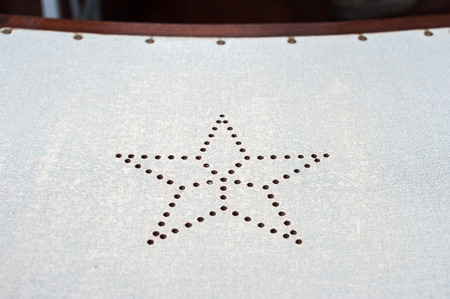 Star Ferry seat detail, Hong Kong Stock Photo
