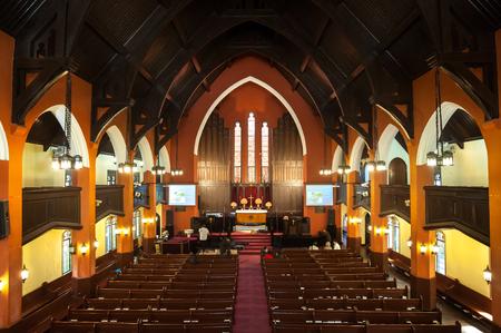 Interior of Hengshan Community Church, Shanghai