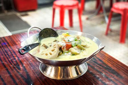 Thai vegetable curry served at a local Thai restaurant