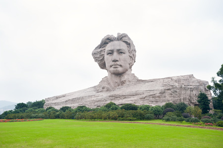 the chairman: Chairman Mao statue in Changsha, Hunan Province, China