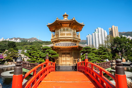 Golden Pagoda in Nan Lian Garden, Diamond Hill, Hong Kong