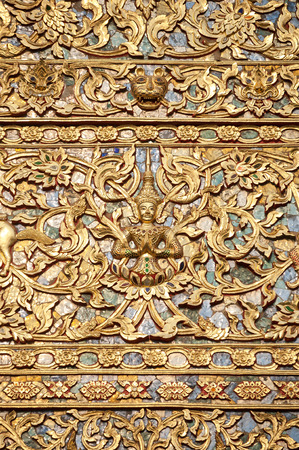 Exterior detail of a Buddhist temple, Chiang Mai, Thailand Stock Photo